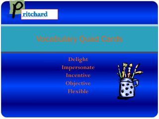 Vocabulary Quad Cards