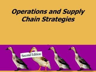Operations and Supply Chain Strategies