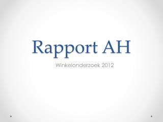 Rapport AH