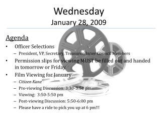 Wednesday January 28, 2009