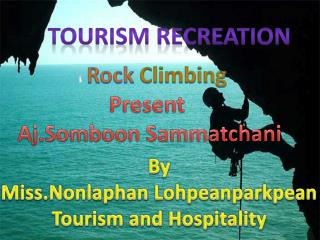 Tourism Recreation