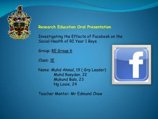 Research Education Oral Presentation