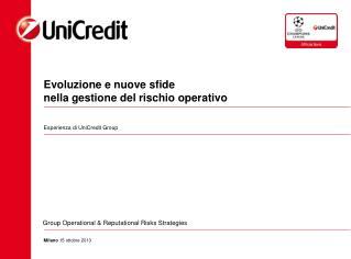 Evoluzione  e  nuove sfide nella gestione  del  rischio operativo