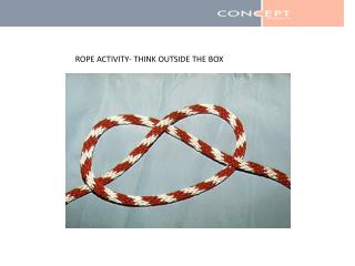 ROPE ACTIVITY- THINK OUTSIDE THE BOX