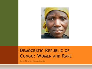 Democratic Republic of Congo: Women and Rape