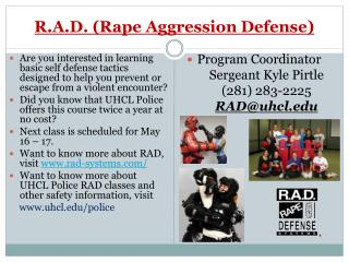 R.A.D. (Rape Aggression Defense)