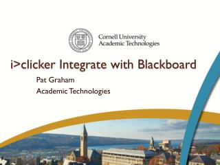 i >clicker Integrate with Blackboard