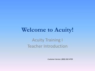 Welcome to Acuity!