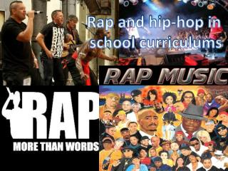 Rap and hip-hop in  school curriculums