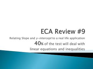 ECA Review #9