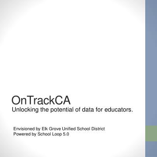 Unlocking the potential of data for educators.