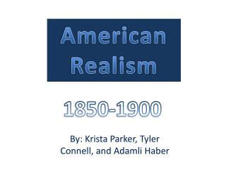 Ameri can Realism
