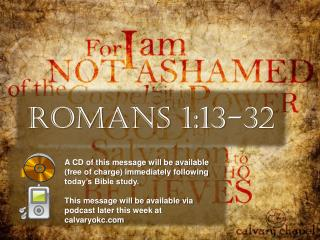 Romans 1:13-32