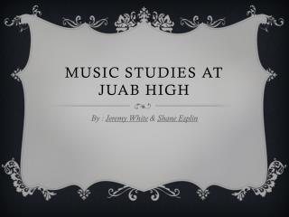 Music Studies at Juab High