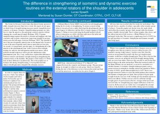 The difference in strengthening of isometric and dynamic exercise