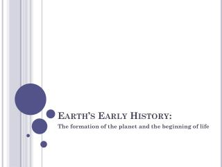 Earth's Early History: