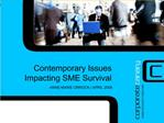 Contemporary Issues  Impacting SME Survival ANNE-MARIE ORROCK  APRIL 2008