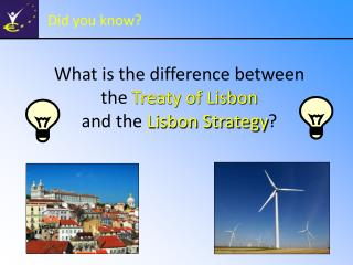 What is the difference between  the Treaty of Lisbon  and the Lisbon Strategy