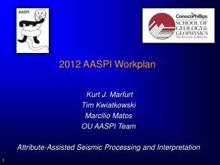 2012  AASPI  Workplan