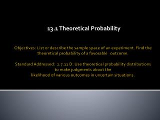 13.1 Theoretical Probability