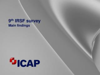 9 th  IRSF survey   Main findings