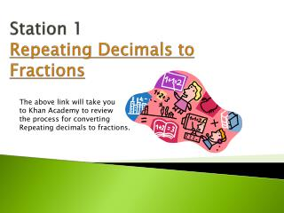 Station 1  Repeating Decimals to Fractions