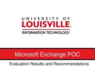 Microsoft Exchange POC