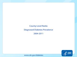County-Level  Ranks Diagnosed  Diabetes Prevalence 2004-2011