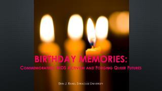 Birthday Memories :