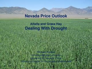 Nevada Price Outlook Alfalfa and Grass Hay Dealing With Drought