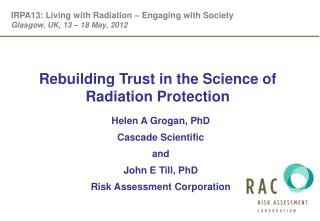 Rebuilding Trust in the Science of Radiation Protection
