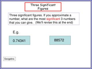 Three Significant Figures