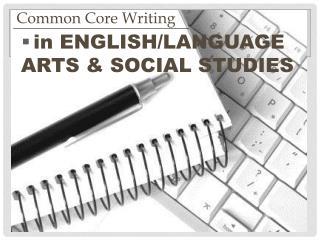 in ENGLISH/LANGUAGE ARTS & SOCIAL STUDIES