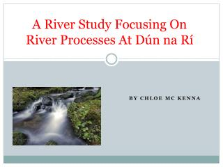 A River Study Focusing  O n River Processes At  Dún na Rí