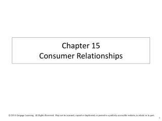 Chapter  15  Consumer  Relationships