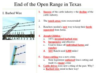 End of the Open Range in Texas