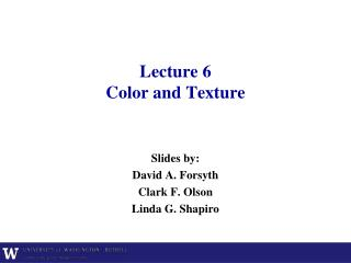 Lecture 6 Color  and Texture