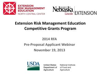 Extension Risk Management Education Competitive Grants Program