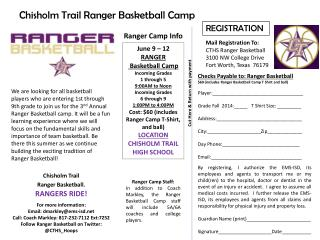 Chisholm Trail Ranger Basketball Camp