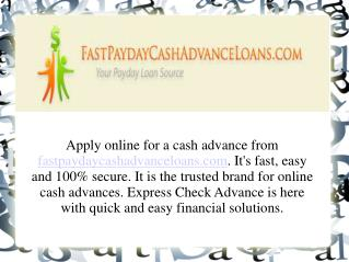 Online fast Payday Cash Advance Loans