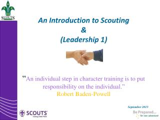 An Introduction to Scouting & (Leadership 1)