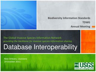 Biodiversity Information Standards TDWG Annual Meeting