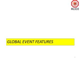 Global Event Features