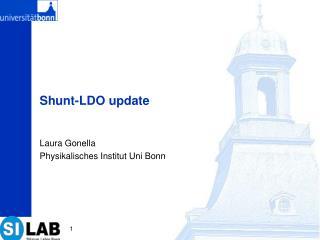 Shunt-LDO update