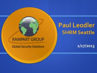 Paul Leodler SHRM Seattle