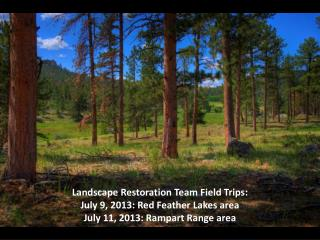 Landscape Restoration Team Field Trips: July 9, 2013: Red Feather Lakes area