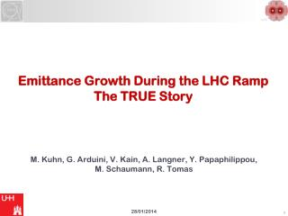 Emittance Growth During the LHC Ramp The TRUE Story