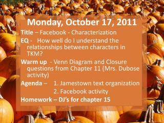 Monday, October 17, 2011