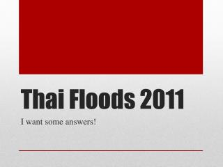 Thai Floods 2011