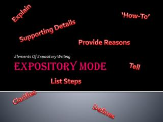 Expository Mode